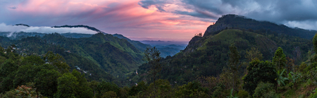 Panoramic view on the Ella Gap while sunrise