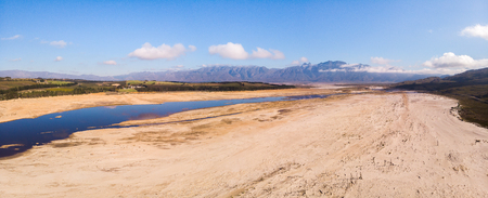 The dry theewaterskloof dam near Capetown