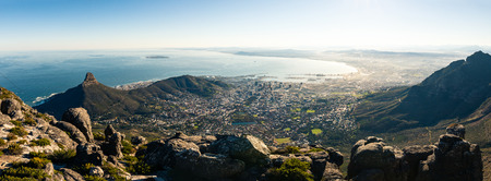 Panoramic view on Capetown shot from the tablemountain