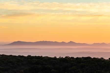 Sunset at Addo Elephant National Park
