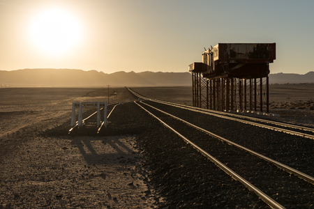 The old railway station of Garub in Namibia
