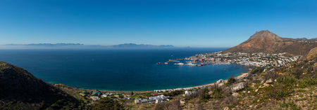A panoramic view of Simonstown and the false bay Stockfoto
