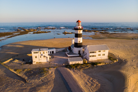 The Cape Recife lighthouse in Port Elizabeth Zdjęcie Seryjne