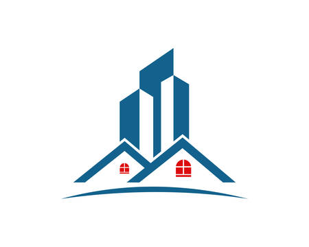 Real estate, property and construction icon design for business corporate sign. Illustration