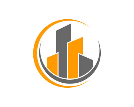 Real Estate   Property and Construction Logo design for business corporate sign Vector illustration.