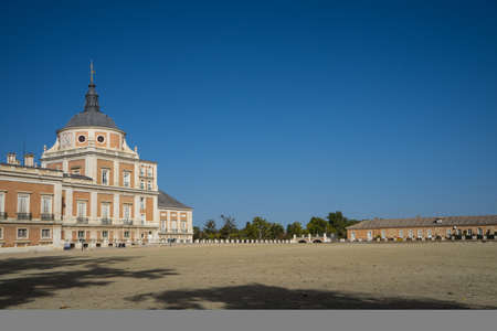 Square in front of the Aranjuezs Palace in Madrid, Spain, October, 2017 Editorial