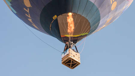 A hot air balloon in the sky.