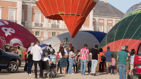 A hot air balloon exhibition in Aranjuez,Madrid, September, 2017