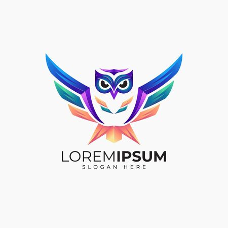 Awesome owl logo Vectores
