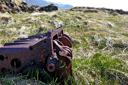 Abandoned old rusty motor