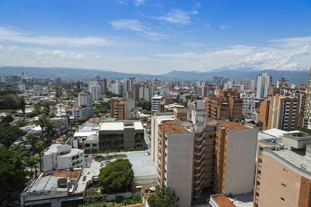 Bucaramanga Colombia Panoramic View, buildings and vegetation.