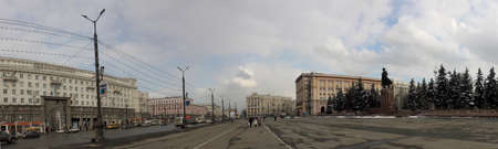 architectonics: Revolution square in Chelyabinsk (view from the theatre) Editorial