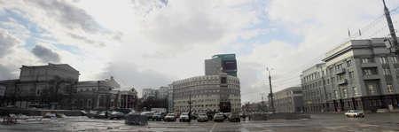 architectonics: Revolution square in Chelyabinsk (view to the theatre)
