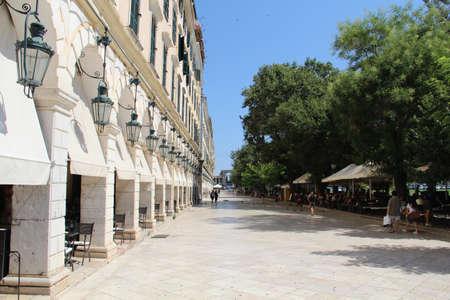 kerkyra: A street in the town of Kerkyra  Corfu , Greece