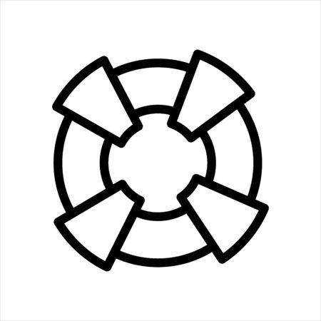Help lifeguard Icon Vector Illustration Design Illustration