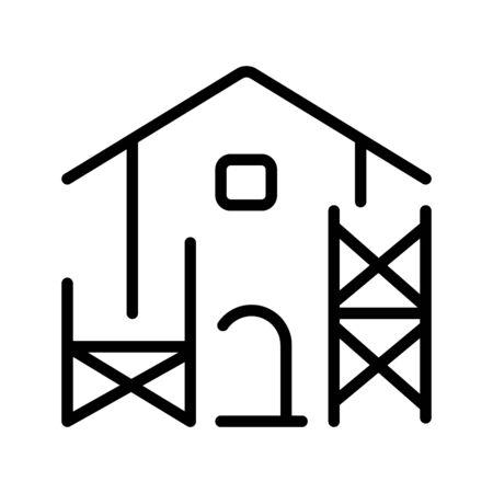 Scaffold Building icon Symbol Illustration Design