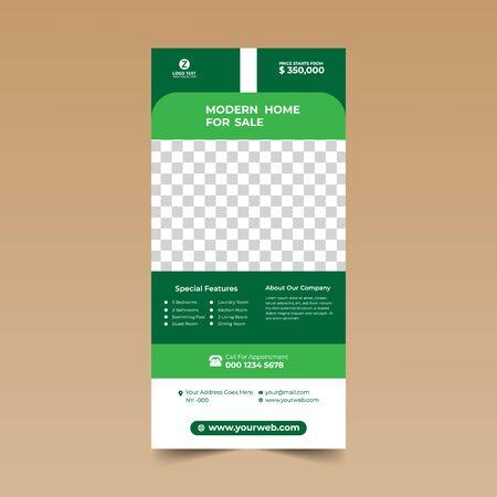 Green Nice Rack Card Design Template