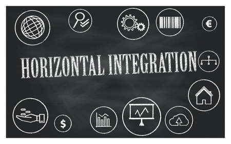 horizontal integration 免版税图像