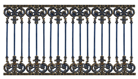 alloys: Alloy steel gate pattern on white backround
