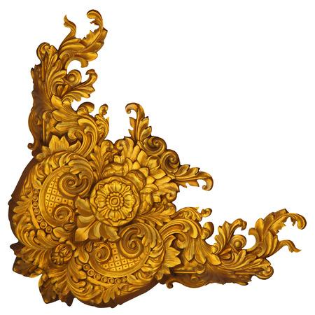 Léments Ornement, or millésime motifs floraux Banque d'images - 28330521