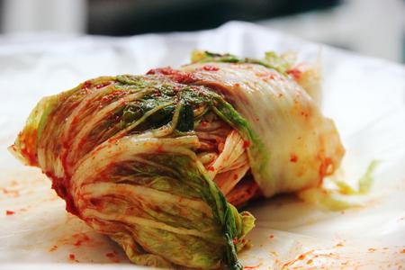homemade kimchi korean traditional food