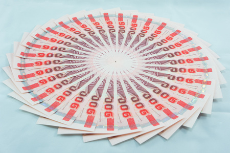 cash cycle: banknote thailand currency baht Stock Photo