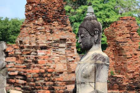stone buddha: Ancient Sand Stone Buddha Statue