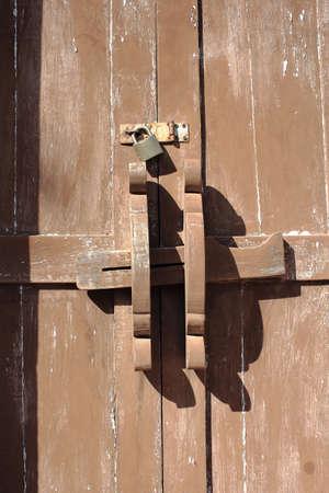 latch: Latch of Old Wooden Door