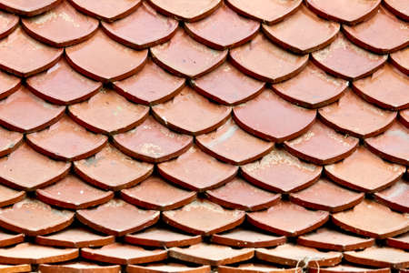closed up: Closed Up of Orange Roof Pattern Stock Photo