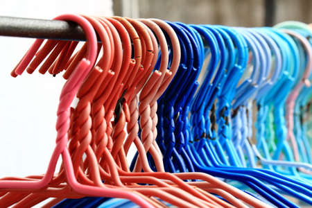 hangers: Row of Colorful Sling Cloth Hangers