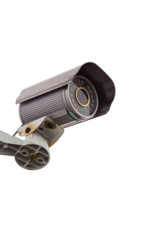 Security Camera CCTV With Isolated white background photo