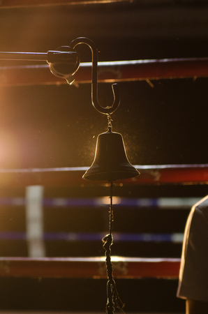 circular muscle: Boxing Bell Front of Empty boxing ring