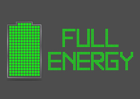 recharge: Battery Energy Indicator Icon Show about Power Inside Full Energy Stock Photo