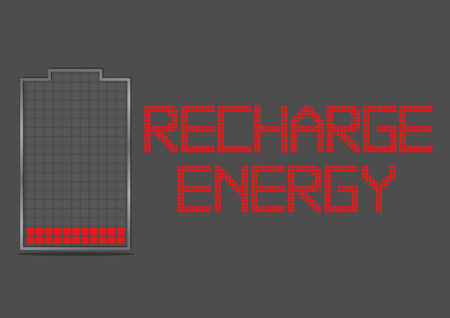 recharge: Battery Energy Indicator Icon Show about Power Inside Recharge Energy