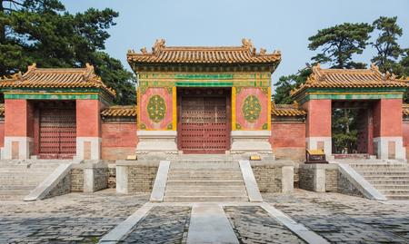 tumbas: Occidentales Qing Tumbas, Tai Ling - puerta de la tumba Editorial