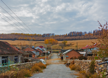 Autumn in rural China, Liaoning, China