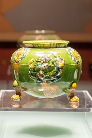 Tricolor tripod in Tang Dynasty