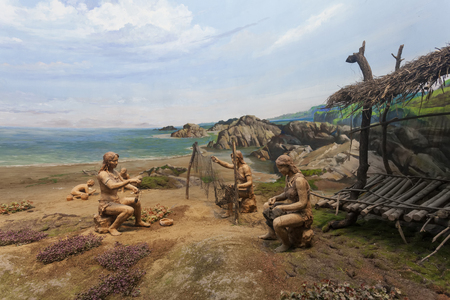 The statue model at museum, China. Publikacyjne