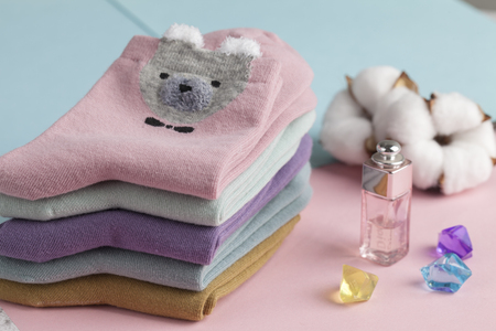 womans Sock and perfume