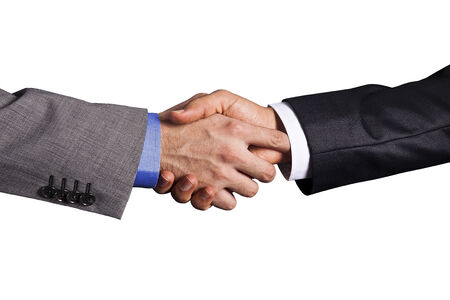 two persons only: handshake Stock Photo