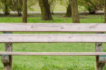 obsolete: obsolete, wooden, bench in park