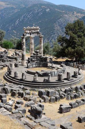 Tholos at the sanctuary of Athena Pronoia in Delphi photo