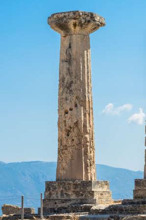 doric: doric order column in Corinth Stock Photo