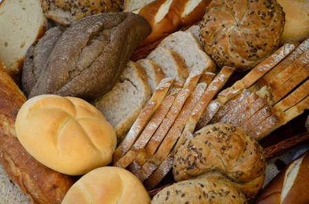 vickers: close up to variety of fresh breads