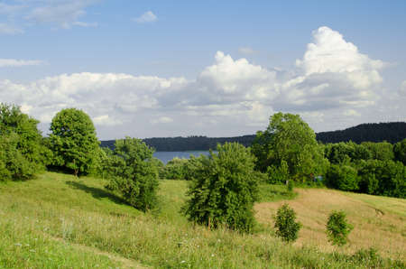 hilly rural lanscape in Poland photo