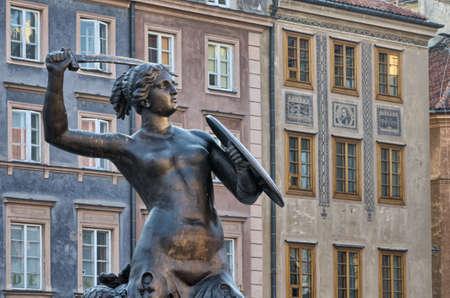 warsaw mermaid, symbol of Warsaw, capital city of Poland photo