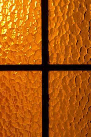 back lit: back lit glass door warm light