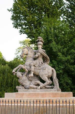 sobieski: Jan III Sobieski monument in Lazienki Park warsaw Stock Photo