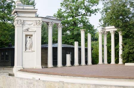 lazienki: theater in Lazienki Park Warsaw Stock Photo