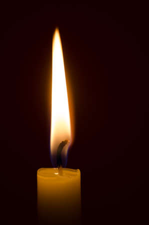 Close Up To Candle Light Stock Photo, Picture And Royalty Free ...